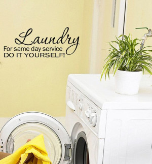 Laundry For Same Day Vinyl Wall Quote Decal by WallStickersDecals, $21 ...
