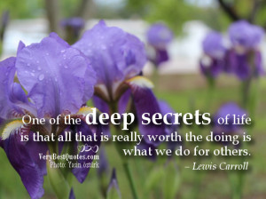 Good thoughts about life – One of the deep secrets