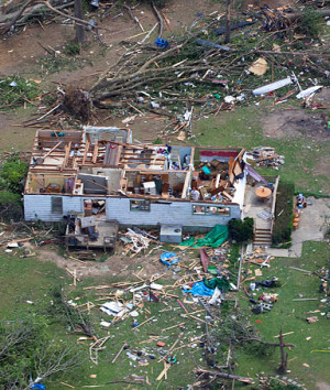 This is an aerial view of tornado damage in Pleasant Grove, Ala ...