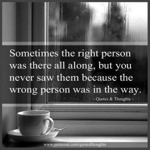 Right and wrong person