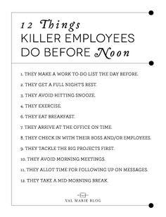 Be a KILLER employee! #HR #Jobs More