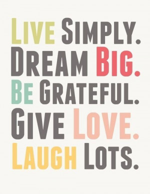 live...dream...laugh