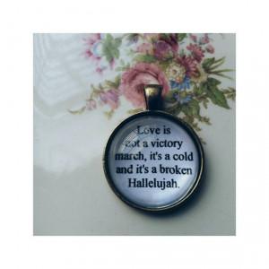 Hallelujah lyric quote necklace- Leonard Cohen lyric quote necklace ...