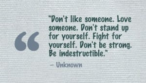 someone love someone don t stand up for yourself fight for yourself ...