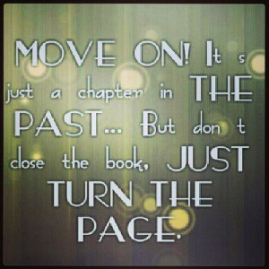 Just turn the page..