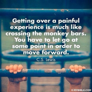 Letting go and moving forward.
