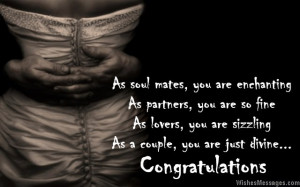 ... you are sizzling. As a couple, you are just divine. Congratulations