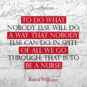 Thank You Nurse Quotes Thank you for being a cna