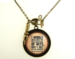 ... Quote Necklace Witty Literary Quote Literary Jewellery Book Lover