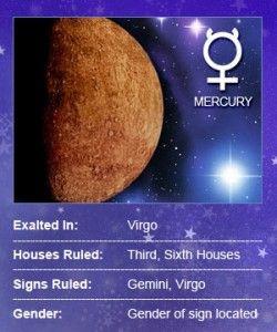 Mercury: Planet of Communication Mercury, much like the winged ...