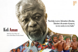 Kofi Annan - Quote Wallpaper by TheSayGi