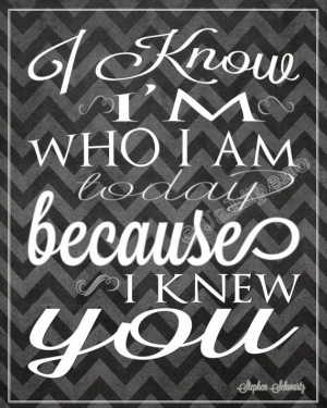 Wicked Quote - I Know I'm Who I am Today