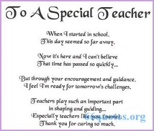 To A Special Teacher - Poem