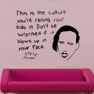 manson quote vinyl wall art celebrities famous quotes vinyl wall art ...