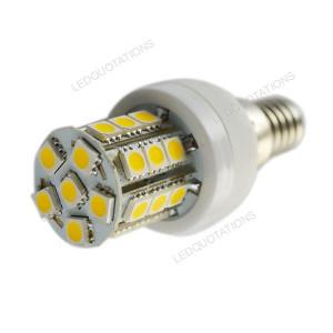 Energy Saving E14 Base 5W Dimmable 27 LED 5050 SMD Corn Light Bulb ...