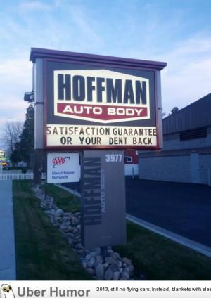 Local auto body shop has a pretty generous policy