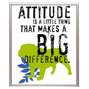 Attitude is a Little thing that makes a Big Difference – Dog Quote