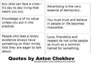 nerd alert: Anton Chekhov Quotes