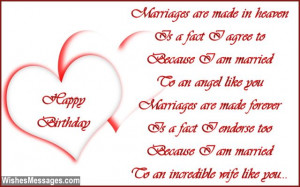 Cute birthday greeting card poem to wife from husband