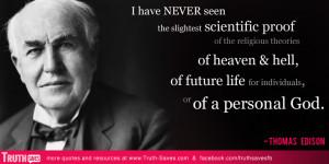 Edison atheist quote