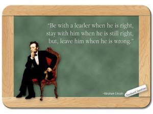 Abraham Lincoln... on Leadership