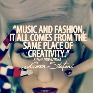 Gwen Stefani on music and fashion