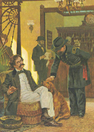 Mark Twain and General Miles