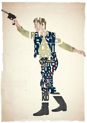 Han Solo Poster, famous quotes。