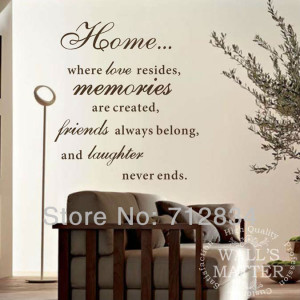 ... Home Decor Wall Art Stickers Home.. Memories .. Murals Quotes Saying