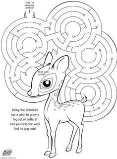 Rudolph Maze. Free to download and print #christmas #reindeer More