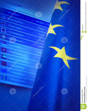 European union flag and quotes display.