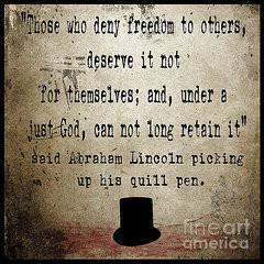 Said Abraham Lincoln Framed Print by Cinema Photography