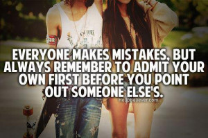 Admitting Your Mistakes Quotes