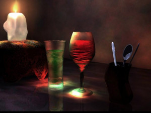 1024x768 SIMPLE CANDLE LIGHT DINNER Wallpaper download