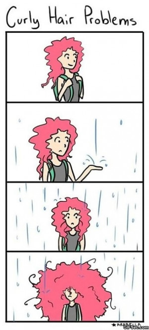funny curly hair quotes