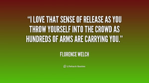 love that sense of release as you throw yourself into the crowd as ...