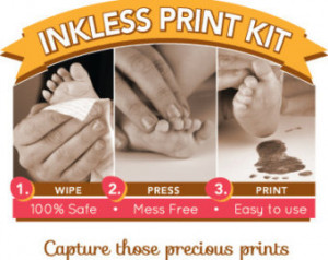 ... wipe. Capture hand and footprints. NO Ink and NO Mess! Baby footprints