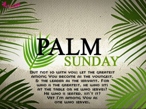 Holy Week and Palm Sunday Quote Picture