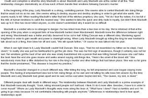 essay on Relationship between Macbeth and Lady Macbeth