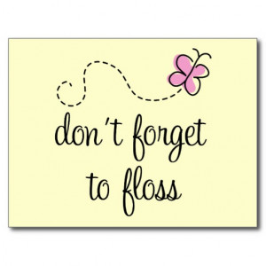 Funny Floss Dental Hygienist Postcard
