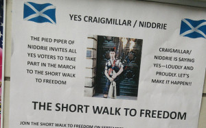 ... posters organising 'short walk to freedom' marches trigger backlash