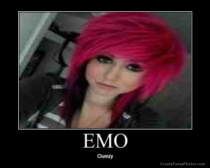 Funny red haired emo clumzy