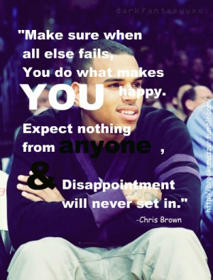 Chris Brown Song Quote...