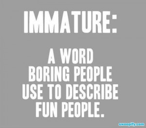 VIDEO] The Meaning Of Immature