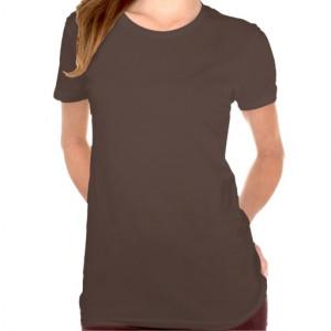 Plain chocolate brown t-shirt for women, ladies