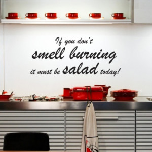 Salad Wall Sticker - Kitchen Quotes Wall Stickers