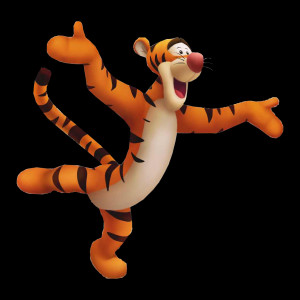 Tigger is a friend in the Hundred Acre Wood world.