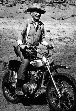 John Wayne Motorcycle John Wayne On A Motorcycle