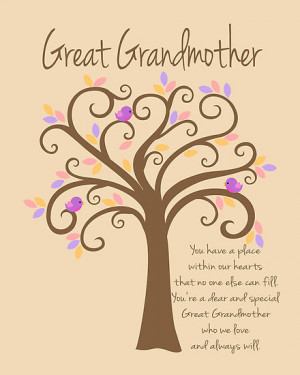 ... -Design › Portfolio › Great Grandmother/Grandchildren Tree Print