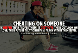 Cheating on someone is deeper than people think, it destroys their ...